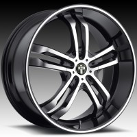 DUB S105 Phase 5 SS Black w/Machined Face