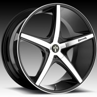 DUB S113 Rio 5 Black w/Machined Face