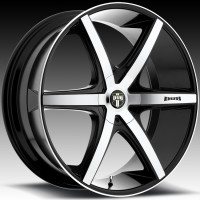 DUB S113 Rio 6 Black w/Machined Face