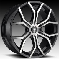 Литые диски DUB Royalty Gloss Black & Machined w/Dark Tint
