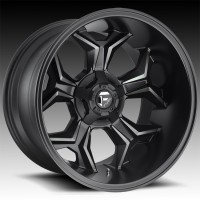 Литые диски Fuel Off-Road Avenger Matte Black/Machined/DDT