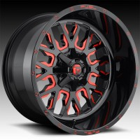 Литые диски Fuel Off-Road Stroke Gloss Black w/Candy Red