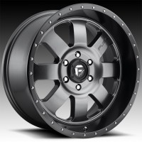 Литые диски Fuel Off-Road Baja Anthracite w/Black Lip