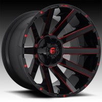Литые диски Fuel Off-Road Contra Gloss Black w/ Candy Red