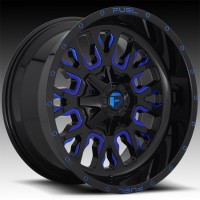 Литые диски Fuel Off-Road Stroke Gloss Black w/Candy Blue
