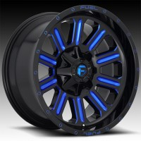 Литые диски Fuel Off-Road Hardline Gloss Black w/ Candy Blue