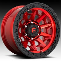 Литые диски Fuel Off-Road Covert Candy Red w/Black Ring