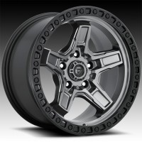 Литые диски Fuel Off-Road Kicker Anthracite Center w/Black Lip