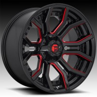 Литые диски Fuel Off-Road Rage Gloss Black w/Candy Red