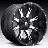 Литые диски Fuel Off-Road Nutz Black w/Machined Face