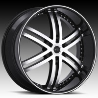 Диски S817 Knight 6 Gloss Black w/Machined Face and Pinstripe