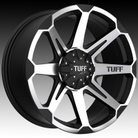 Литые диски Tuff A.T. T05 Flat Black w/Machine Face