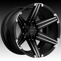 Литые диски Tuff A.T. T12 Satin Black w/Milled Spokes & Brushed Inserts