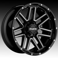 Литые диски Tuff A.T. T17 Gloss Black w/Milled Spokes