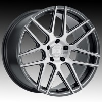 Литые диски XO Luxury Moscow Gloss Gunmetal w/Ball Milled Spoke & Brushed Face