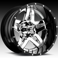 Диски FUEL Off-Road D253 Full Blown Chrome w/Gloss Black Lip