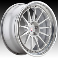 Кованые составные диски HRE 303 Naked Silver center, Polished Clear outer, Gloss Silver inner