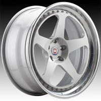 Кованые составные диски HRE 305 Naked Silver center, Polished Clear outer, Gloss Silver inner