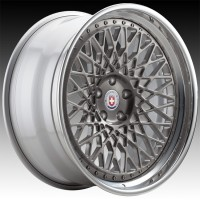 Кованые составные диски HRE 501 Brushed Dark Clear center, Polished Clear outer, Gloss Silver inner