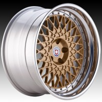 Кованые составные диски HRE 501 Gloss Gold center, Polished Clear outer, Gloss Silver inner