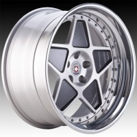 Кованые составные диски HRE 505 Brushed Clear and Gloss Charcoal center, Polished Clear outer, Gloss Silver inner