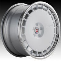 Кованые составные диски HRE 935 Gloss White center, Polished Clear outer, Gloss Silver inner