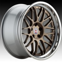 Кованые составные диски HRE C100 Satin Bronze center, Polished Clear outer, Gloss Silver inner