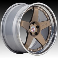 Кованые составные диски HRE C105 Satin Bronze center, Polished Clear outer, Gloss Silver inner