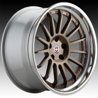 Кованые составные диски HRE C109 Satin Bronze center, Polished Clear outer, Gloss Silver inner