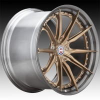 Кованые составные диски HRE S104SC Frozen Polished Champagne center, Polished Dark Clear FMR™ barrel