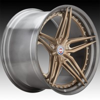 Кованые составные диски HRE S107SC Frozen Polished Champagne center, Polished Dark Clear FMR™ barrel