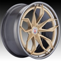 Кованые составные диски HRE S201H Frozen Gold center, Polished Dark Clear outer and inner