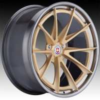 Кованые составные диски HRE S204H Frozen Gold center, Polished Dark Clear outer and inner