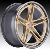Кованые составные диски HRE S207H Frozen Gold center, Polished Dark Clear outer and inner