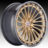 Кованые составные диски HRE S209H Frozen Gold center, Polished Dark Clear outer and inner