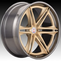 Кованые составные диски HRE S267H Frozen Gold center, Polished Dark Clear outer and inner
