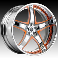 Диски Savini SV8 Chrome Orange Face w/Chrome Lip