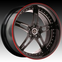 Диски Savini SV10 Full Gloss Black w/Red Pinstripe
