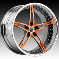 Диски Savini SV10 Orange Black Face w/Chrome Lip