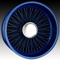 Спицевые диски Dayton Wires Classic II Cross Reverse Lace Wire Wheel Custom Blue